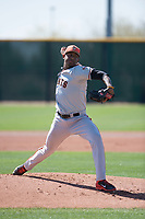 San Francisco Giants relief pitcher Jose Marte (40) pitching during a Minor League Spring Training game against the Arizona Diamondbacks at Salt River Fields at Talking Stick on March 28, 2018 in Scottsdale, Arizona. (Zachary Lucy/Four Seam Images)