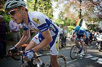 Preben Van Hecke (BEL/Topsport Vlaanderen-Baloise) up the Mur de Huy<br /> <br /> La Flèche Wallonne 2014
