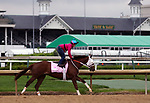 April 28, 2019 : Street Band works out  at Churchill Downs, Louisville, Kentucky, preparing for a start in the Kentucky Oaks. Owner J. Larry and Cindy Jones, Ray Francis, trainer J. Larry Jones. By Istan x Street Minstrel (Street Cry) Mary M. Meek/ESW/CSM