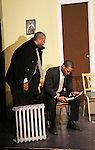 Guiding Light's Lawrence Saint-Victor & author Layon Gray star in Black Angels Over Tuskegee on January 24, 2011 at the Actors Temple Theatre, New York City, New York. (Photo by Sue Coflin/Max Photos)