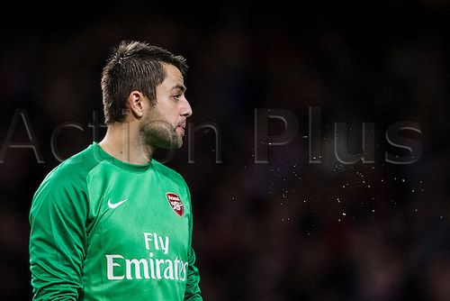 04.01.2014 London, England.  Arsenal goalkeeper Lukasz FABIANSKI during the FA Cup 3rd Round game between Arsenal and Tottenham Hotspur from the Emirates Stadium.
