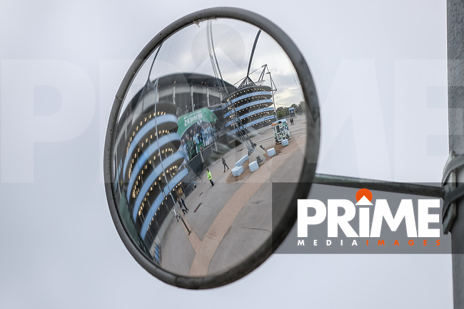 General view of the Etihad Stadium, home of Manchester City Football Club during the UEFA Champions League match between Manchester City and Olympique Lyonnais at the Etihad Stadium, Manchester, England on 19 September 2018. Photo by David Horn / PRiME Media Images.