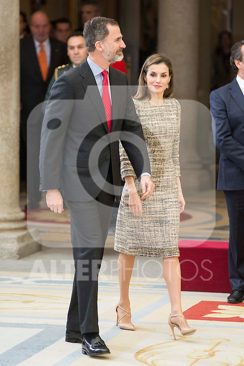 King Felipe VI of Spain and Queen Letizia attends to the National Sports Awards 2015 at El Pardo Palace in Madrid, Spain. January 23, 2017. (ALTERPHOTOS/BorjaB.Hojas)