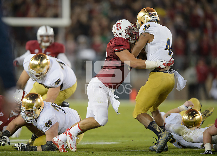 Stanford, California - Saturday, November 30, 2013: Stanford defeated Notre Dame 27-20 at Stanford Stadium.