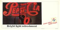 Printer's proof, Pepsi Cola ad, 1966. Photo by John G. Zimmerman.