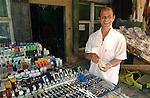 Korca/Korce-Albania - August 03, 2004---A vendor of watches on the central market of Korca;  project area of GTZ-Wiram-Albania (German Technical Cooperation, Deutsche Gesellschaft fuer Technische Zusammenarbeit (GTZ) GmbH); business-economy-portrait---Photo: Horst Wagner/eup-images
