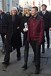 """Pic shows: Vanessa Redgrave and Joely Richarson with her children<br /> <br /> <br /> Funeral of Roger Lloyd-Pack - """"Trigger"""" from Only Fools and Horses.<br /> <br /> Mourners arriving at the service at Actors Church in Covent Garden -<br /> <br /> <br /> <br /> <br /> Pic by Gavin Rodgers/Pixel 8000 Ltd"""