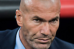 Manager Zinedine Zidane of Real Madrid reacts during the La Liga 2017-18 match between Real Madrid and Real Betis at Estadio Santiago Bernabeu on 20 September 2017 in Madrid, Spain. Photo by Diego Gonzalez / Power Sport Images