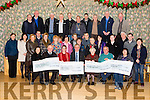 Mid Kerry Vintage Society has raised €30,000 for worthy causes and were presented with cheques at the Castlemaine Community Centre on Tuesday. Pictured Front  l-r  Teresa Walsh, Oncology Dept Kerry General Hospital, Michael McKenna, Firies, Mid Kerry Vintage, Siobhan Sweeney, Recovery Haven, Denis Tangney, Mid Kerry Vintage, Sr Helena, St Joseph's Home, Killorglin, Brendan Dennehy, Mid Kerry Vintage and Marie Coleman O'Sullivan, Castlemaine Community Care and Members of Mid Kerry Vintage Society