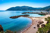 Frankreich, Provence-Alpes-Côte d'Azur, Mandelieu-la-Napoule: Plage de la Rague | France, Provence-Alpes-Côte d'Azur, Mandelieu-la-Napoule: beach Plage de la Rague
