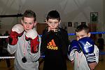 JJ McGahon (44kg Finalist), Joshua Keenan (36kg Semi Finalist), John Duddy (36kg Semi Finalist) at Drogheda Boxing Club, Moneymore..Photo NEWSFILE/Jenny Matthews..(Photo credit should read Jenny Matthews/NEWSFILE)