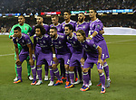 Cristiano Ronaldo of Real Madrid stand on his tip toes for the team picture during the Champions League Final match at the Millennium Stadium, Cardiff. Picture date: June 3rd, 2017.Picture credit should read: David Klein/Sportimage