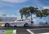 Jun 6, 2015; Englishtown, NJ, USA; NHRA funny car driver Tony Pedregon during qualifying for the Summernationals at Old Bridge Township Raceway Park. Mandatory Credit: Mark J. Rebilas-