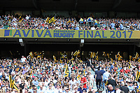 Fans enjoying the Premiership Rugby Final at Twickenham Stadium on Saturday 27th May 2017 (Photo by Rob Munro)