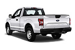 Car pictures of rear three quarter view of a 2018 Ford F-150 XLT 4 Door Pick Up angular rear