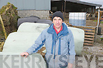 IFA Chairman Sean Brosnan Castleisland with some of the bales that he has had to purchase from Wexford, due to the bad weather cattle have been in houses since October and rations are running out