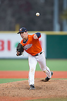 Virginia Cavaliers relief pitcher Kevin Doherty (28) in action against the Seton Hall Pirates at The Ripken Experience on February 28, 2015 in Myrtle Beach, South Carolina.  The Cavaliers defeated the Pirates 4-1.  (Brian Westerholt/Four Seam Images)