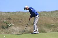 Marcos Montenegro (ARG) on the 2nd green during Round 2 of the East of Ireland Amateur Open Championship 2018 at Co. Louth Golf Club, Baltray, Co. Louth on Sunday 3rd June 2018.<br /> Picture:  Thos Caffrey / Golffile<br /> <br /> All photo usage must carry mandatory copyright credit (&copy; Golffile | Thos Caffrey)