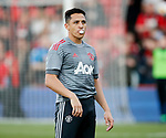 Alexis Sanchez of Manchester United warms up during the premier league match at the Vitality Stadium, Bournemouth. Picture date 18th April 2018. Picture credit should read: David Klein/Sportimage