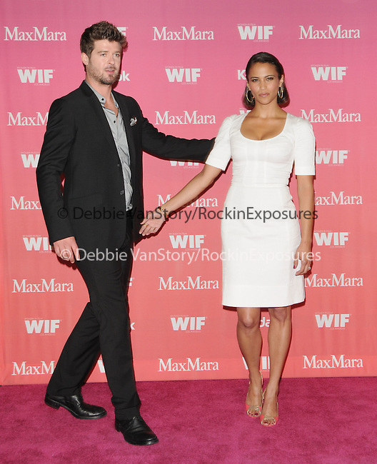 Robin Thicke & Paula Patton  at The Women in Film 2009 Crystal + Lucy Awards held at The  Hyatt Regency Century Plaza in Century City, California on June 12,2009                                                                     Copyright 2009 DVS / RockinExposures