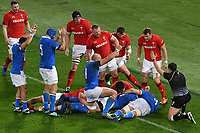 Abraham Steyn scores a try for Italy <br /> Roma 9-02-2019 Stadio Olimpico<br /> Rugby Six Nations tournament 2019  <br /> Italy - Wales <br /> Foto Andrea Staccioli / Resini / Insidefoto