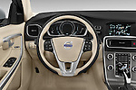 Car pictures of steering wheel view of a 2017 Volvo V60 T5 5 Door Wagon Steering Wheel