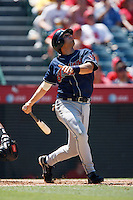 Mike Rouse of the Cleveland Indians during a game from the 2007 season at Angel Stadium in Anaheim, California. (Larry Goren/Four Seam Images)