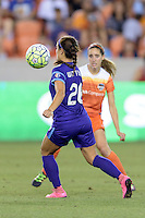 Samantha Witteman (26) of the Orlando Pride takes control of a loose ball against the Houston Dash on Friday, May 20, 2016 at BBVA Compass Stadium in Houston Texas. The Orlando Pride defeated the Houston Dash 1-0.