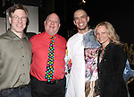 Ira Mont, David Westphal, Paige Price & Dennis Stowe.attending the Broadway Opening Night Gypsy Robe Ceremony honoring  Dennis Stowe in 'LEAP OF FAITH' on 4/26/2012 at the St. James Theatre in New York City.