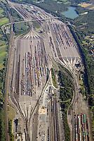 Rangierbahnhof Maschen: EUROPA, DEUTSCHLAND, NIEDERSACHSEN, MASCHEN, (EUROPE, GERMANY), 28.08.2014: Rangierbahnhof Maschen, Der Bahnhof Maschen ist der groesste Rangierbahnhof Europas. Eroeffnet wurde er im Jahre 1977 ,