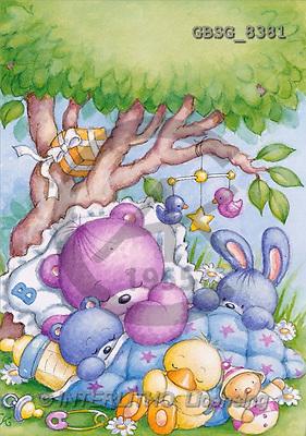Ron, BABIES, paintings, animals tree(GBSG8381,#B#) bébé, illustrations, pinturas ,everyday
