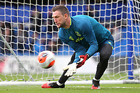 Everton goalkeeper, Maarten Stekelenburg warms up ahead of kick-off during Chelsea vs Everton, Premier League Football at Stamford Bridge on 8th March 2020