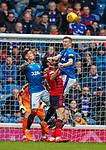 07.04.2018: Rangers v Dundee:<br /> Ross McCrorie andJames Tavernier clear from Sofien Moussa