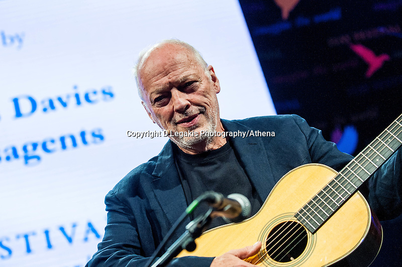 Friday  27 May 2016<br /> Pictured: Dave Gilmour of Pink Floyd <br /> Re: The 2016 Hay festival take place at Hay on Wye, Powys, Wales