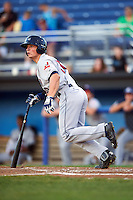Mahoning Valley Scrappers designated hitter Mitch Longo (30) at bat during a game against the Batavia Muckdogs on August 18, 2016 at Dwyer Stadium in Batavia, New York.  Batavia defeated Mahoning Valley 2-1.  (Mike Janes/Four Seam Images)
