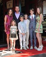 Chris O'Donnell &amp; wife Caroline Fentress &amp; children Maeve, Finley, Charles, Christopher &amp; Lily on Hollywood Boulevard where Chris O'Donnell was honored with the 2,544th star on the Walk of Fame.<br /> March 5, 2015  Los Angeles, CA<br /> Picture: Paul Smith / Featureflash