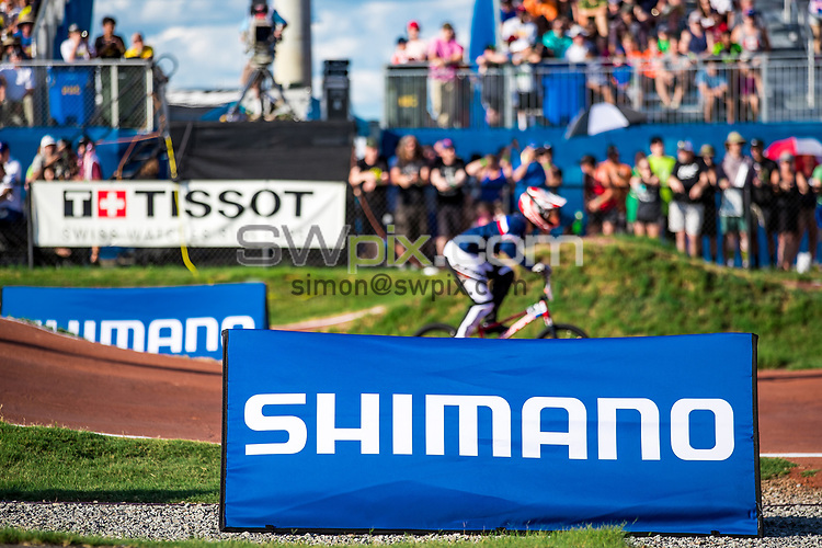 Picture by Alex Whitehead/SWpix.com - 29/07/2017 - Cycling - 2017 UCI BMX World Championships - Novant Health BMX Supercross Track, Rock Hill, USA - Brief. Shimano, Tissot.