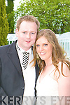 Caroline, daughter of Tony and Dorothy Phelan, Waterford and Dermot, son of Frank and Phil Mannion, Tralee who were married on Saturday in St Mary's Cathedral, Killarney. Fr Pat O'Sullivan (groom's uncle) officiated at the ceremony. Best man was Niall Gallagher and groomsmen were James Mannion, Shane Nolan and Stephen O'Sullivan. Bridesmaids were Pauline O'Kane, Frances Mannion and Miriam Mannion. The reception was held in the Malton Hotel, Killarney and the couple will reside in Dublin..