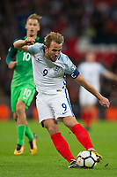 England's Harry Kane has a shot at goal <br /> <br /> Photographer Craig Mercer/CameraSport<br /> <br /> FIFA World Cup Qualifying - European Region - Group F - England v Solvenia - Thursday 5th October 2017 - Wembley Stadium - London<br /> <br /> World Copyright &copy; 2017 CameraSport. All rights reserved. 43 Linden Ave. Countesthorpe. Leicester. England. LE8 5PG - Tel: +44 (0) 116 277 4147 - admin@camerasport.com - www.camerasport.com
