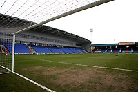 A general view of Boundary Park, home of Oldham Athletic FC ahead of the Sky Bet League 1 match between Oldham Athletic and Rotherham United at Boundary Park, Oldham, England on 13 January 2018. Photo by Juel Miah / PRiME Media Images.