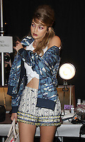 NEW YORK, NY-September 14: Gigi Hadid backstage for  Anna Sui Fashion Show-2016 New York Fashion Week at the Arts Skylight of Moynihan Station in New York. September 14, 2016. Credit:RW/MediaPunch
