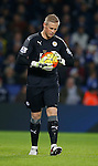 Kasper Schmeichel of Leicester City - English Premier League - Leicester City vs Chelsea - King Power Stadium - Leicester - England - 14th December 2015 - Picture Simon Bellis/Sportimage