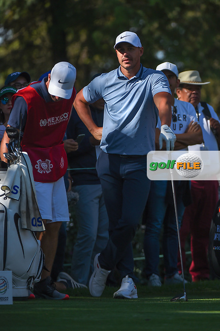 Brooks Koepka (USA) waits to tee off on 8 during round 1 of the World Golf Championships, Mexico, Club De Golf Chapultepec, Mexico City, Mexico. 2/21/2019.<br /> Picture: Golffile | Ken Murray<br /> <br /> <br /> All photo usage must carry mandatory copyright credit (© Golffile | Ken Murray)