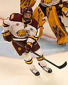 Adam Johnson (UMD - 7) - The University of Minnesota Duluth Bulldogs defeated the Harvard University Crimson 2-1 in their Frozen Four semi-final on April 6, 2017, at the United Center in Chicago, Illinois.