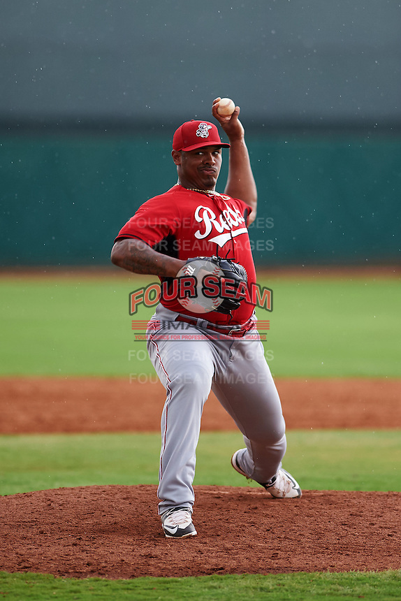 Cincinnati Reds pitcher Chad Jones (43) during an instructional league game against the Cleveland Indians on October 17, 2015 at the Goodyear Ballpark Complex in Goodyear, Arizona.  (Mike Janes/Four Seam Images)