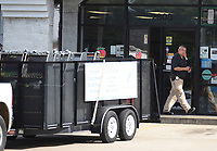 NWA Democrat-Gazette/DAVID GOTTSCHALK Casino style slot and gambling machines are visible Thursday, July 11, 2019, in the back of a city of Springdale trailer in the parking area of Kings Korner located at 2808 West Huntsville Avenue in Springdale. The the Springdale Police Department executed a search warrant on Kings Korner and Kings Xpress located at 2513 N. Thompson. The warrant was based off an extensive investigation, revealing that both these locations are operating illegal gambling houses, in violation of Arkansas Law. The Springdale Police Department and Arkansas Alcohol Beverage Control Agents conducted the joint investigation.