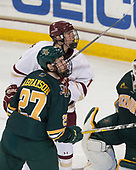 Ori Abramson (UVM - 27), David Cotton (BC - 17) - The visiting University of Vermont Catamounts tied the Boston College Eagles 2-2 on Saturday, February 18, 2017, Boston College's senior night at Kelley Rink in Conte Forum in Chestnut Hill, Massachusetts.Vermont and BC tied 2-2 on Saturday, February 18, 2017, Boston College's senior night at Kelley Rink in Conte Forum in Chestnut Hill, Massachusetts.