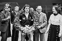 1983, ABN WTT, Prijsuitrijking aan winnaar Gene Mayer