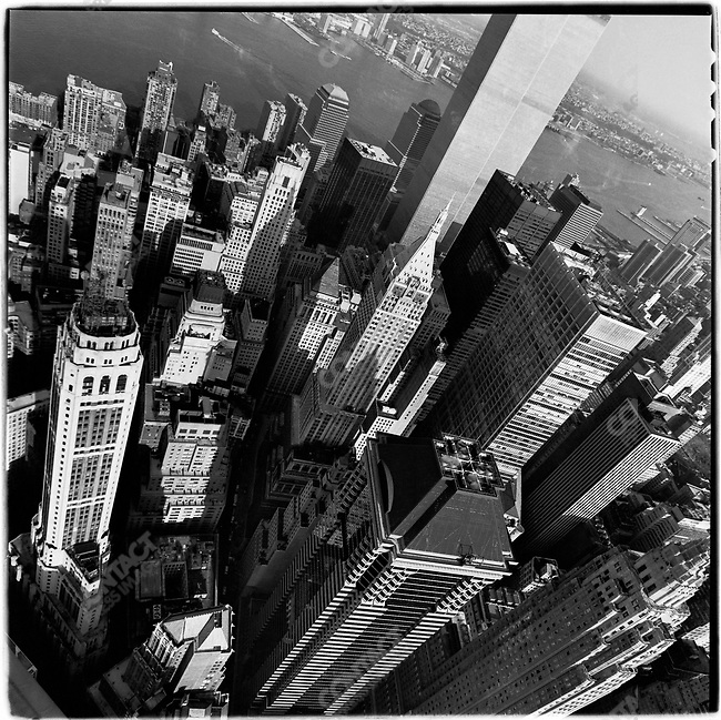 Aerial view of the World Trade Center, New York City, New York, USA, October 13, 1999
