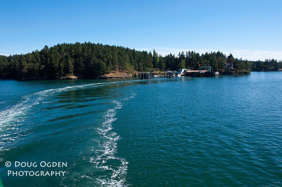 Leaving Shaw Island Washington State Ferry Landing